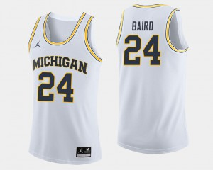 Men U of M #24 C.J. Baird White College Basketball Jersey 281311-295