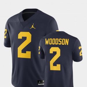 Men's Michigan #2 Charles Woodson Navy Alumni Football Game 2018 Jersey 783719-599