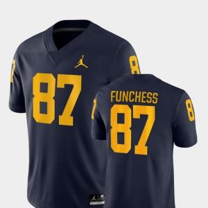 Men Michigan #87 Devin Funchess Navy Game College Football Jersey 758518-572