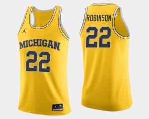 Men's Michigan Wolverines #22 Duncan Robinson Maize College Basketball Jersey 174152-993