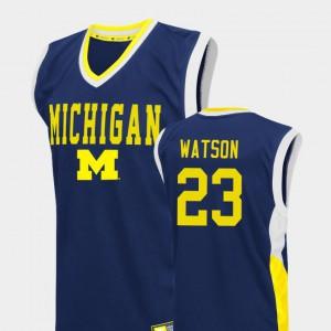 Men Michigan #23 Ibi Watson Blue Fadeaway College Basketball Jersey 572518-770