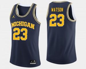 Men U of M #23 Ibi Watson Navy College Basketball Jersey 599414-427