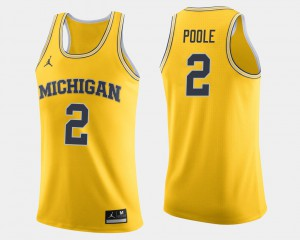For Men U of M #2 Jordan Poole Maize College Basketball Jersey 325812-721
