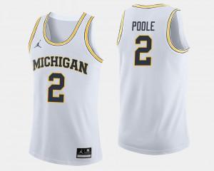 For Men Michigan Wolverines #2 Jordan Poole White College Basketball Jersey 125119-212