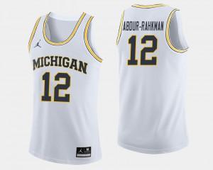 Mens U of M #12 Muhammad-Ali Abdur-Rahkman White College Basketball Jersey 905330-391