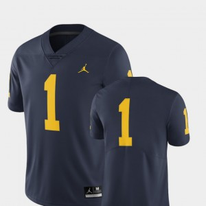 For Men Michigan #1 Navy College Football Limited Jersey 730422-902