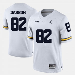 For Men Wolverines #82 Amara Darboh White College Football Jersey 728229-223