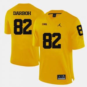 Men U of M #82 Amara Darboh Yellow College Football Jersey 739012-202