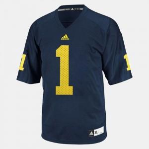 For Men Wolverines #1 Braylon Edwards Blue College Football Jersey 720019-876