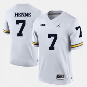 Men's Michigan #7 Chad Henne White College Football Jersey 942371-665