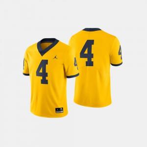 Men's U of M #4 Maize College Football Jersey 266439-469
