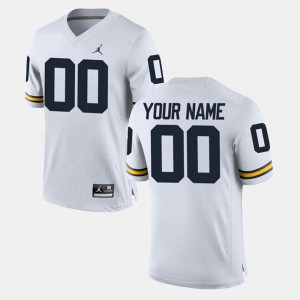Men Wolverines #00 White College Limited Football Customized Jersey 576396-454