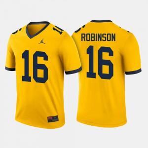 Men's Michigan Wolverines #16 Denard Robinson Maize College Football Jersey 801426-603