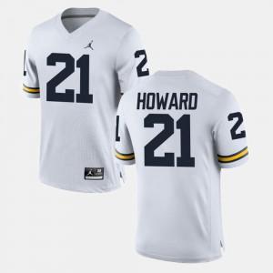 For Men Wolverines #21 desmond Howard White College Football Jersey 674573-471