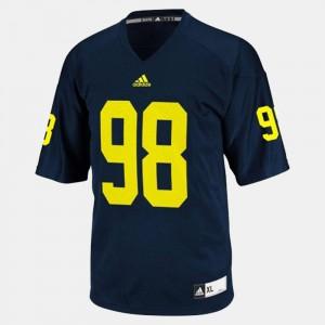 For Kids Wolverines #98 Devin Gardner Blue College Football Jersey 971291-267