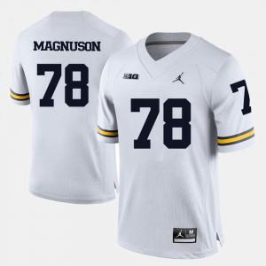 Men U of M #78 Erik Magnuson White College Football Jersey 362492-146