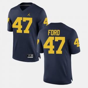 For Men Michigan #47 Gerald Ford Navy Alumni Football Game Jersey 384777-776