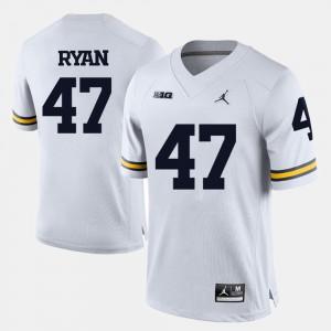 Men Michigan Wolverines #47 Jake Ryan White College Football Jersey 399927-338