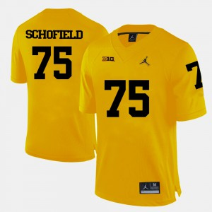 For Men Wolverines #75 Michael Schofield Yellow College Football Jersey 253053-851