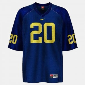 Kids Wolverines #20 Mike Hart Blue College Football Jersey 684745-723