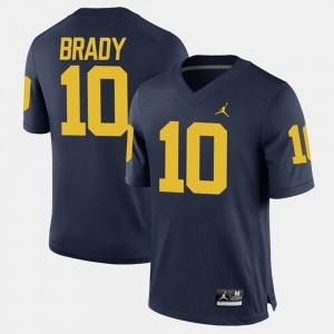 Men Wolverines #10 Tom Brady Navy Alumni Football Game Jersey 300450-345